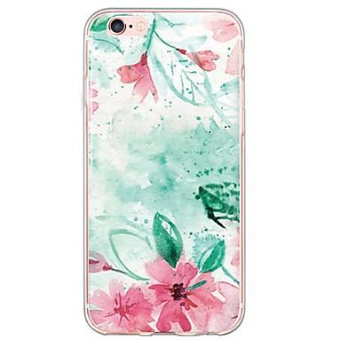 제품 아이폰6케이스 아이폰6플러스 케이스 케이스 커버 울트라 씬 반투명 뒷면 커버 케이스 꽃장식 소프트 TPU 용 Apple iPhone 6s Plus iPhone 6 Plus iPhone 6s 아이폰 6 iPhone SE/5s iPhone 5