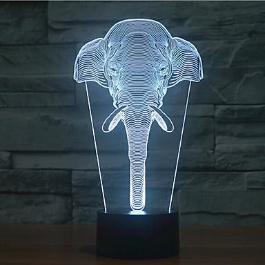 dotyk słonia ściemnianie 3d led night light 7 kolorowa dekoracja atmosfera lampa nowość oświetlenie światło