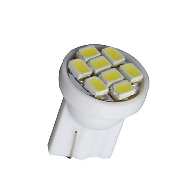 20 pcs puro cunha t10 branco W5W 8-SMD 168 194 2825 175 lâmpadas led interior