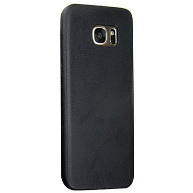 용 Samsung Galaxy S7 Edge 엠보싱 텍스쳐 케이스 뒷면 커버 케이스 단색 소프트 TPU Samsung S7 edge / S7