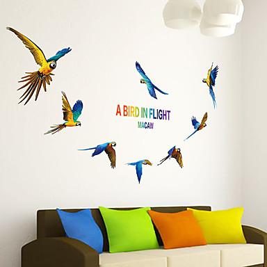 애니멀 벽 스티커 플레인 월스티커 데코레이티브 월 스티커,PVC 자료 재부착가능 홈 장식 벽 데칼