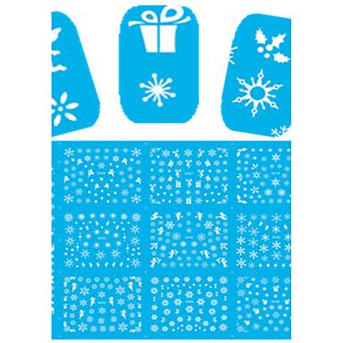 1 Nail Art matrica Fél tip Körömfestés tippek Virág Rajzfilmfigura Szeretetreméltő smink Kozmetika Nail Art Design