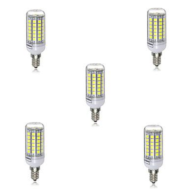 5pcs 5 W 2700-6500 lm E14 LED kukorica izzók T 69 LED gyöngyök SMD 5730 Dekoratív Meleg fehér / Hideg fehér 220-240 V / 5 db. / RoHs