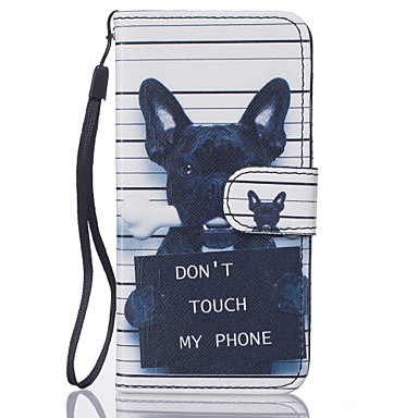 Dog Pattern PU Leather Full Body Case with Stand for iPhone7 6sPlus 6Plus 6S 6