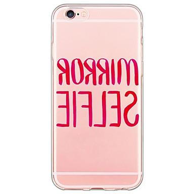 용 아이폰6케이스 / 아이폰6플러스 케이스 울트라 씬 / 반투명 케이스 뒷면 커버 케이스 단어 / 문구 소프트 TPU Apple iPhone 6s Plus/6 Plus / iPhone 6s/6 / iPhone SE/5s/5