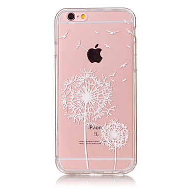 Case For Apple iPhone 6 Plus / iPhone 6 Ultra-thin / Transparent / Pattern Back Cover Dandelion Soft TPU for iPhone 6s Plus / iPhone 6s / iPhone 6 Plus