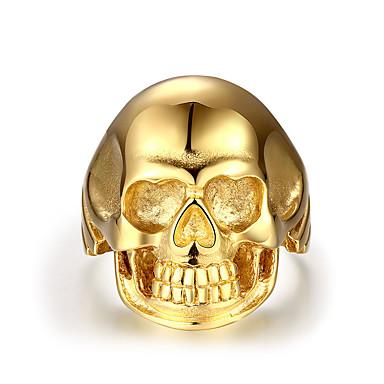 Herrn Schmuck Gold Edelstahl Totenkopf Punk Normal Modeschmuck