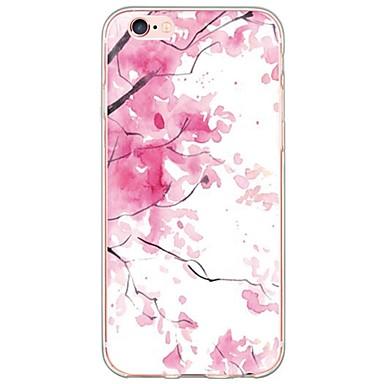 Mert iPhone 6 tok / iPhone 6 Plus tok Ultra-vékeny / Áttetsző Case Hátlap Case Virág Puha TPU AppleiPhone 6s Plus/6 Plus / iPhone 6s/6 /