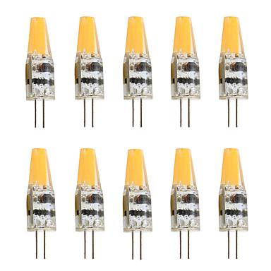 실리카 젤 g4 주도 크리스탈 스포트 1 smd 사파이어 cob 2w dc / ac12v 200-250lm 흰색 / 따뜻한 흰색 (10pcs)