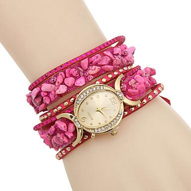 여성용 모조 다이아몬드 시계 팔찌 시계 패션 시계 석영 / 모조 다이아몬드 가죽 밴드 캐쥬얼 멀티컬러