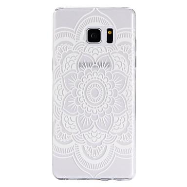 용 Samsung Galaxy Note7 케이스 커버 투명 패턴 뒷면 커버 케이스 만다라 소프트 TPU 용 Samsung Note 7