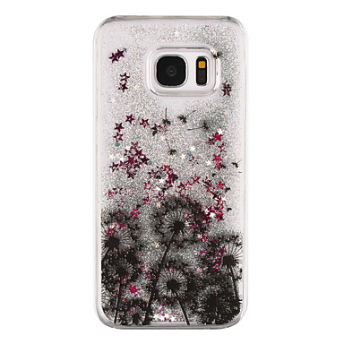 Mert Samsung Galaxy S7 Edge Folyékony / Átlátszó / Minta Case Hátlap Case Fa Kemény PC Samsung S7 edge / S7