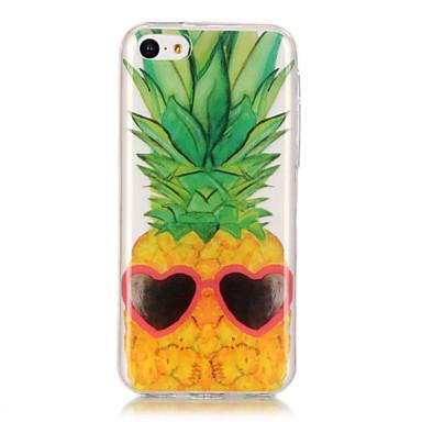 Kılıf Na Apple iPhone 6 / iPhone 6 Plus IMD / Ultra cienkie / Przezroczyste Czarne etui Owoc Miękkie TPU na iPhone 6s Plus / iPhone 6s /