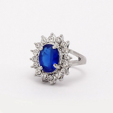 Women's Statement Ring - Zircon, Alloy Statement, Fashion 6 / 7 / 8 / 9 / 10 Blue For Wedding Party