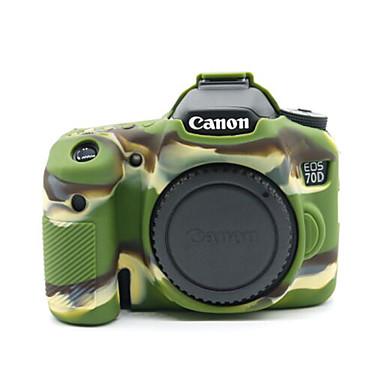 캐논 EOS 70D (모듬 색상)에 대한 dengpin® 부드러운 실리콘 갑옷 피부 고무 카메라 커버 케이스 가방