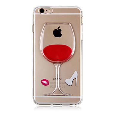 케이스 제품 iPhone 6s Plus iPhone 6 Plus iPhone 6s 아이폰 6 iPhone 6 iPhone 6 Plus 플로잉 리퀴드 뒷면 커버 3D카툰 캐릭터 소프트 TPU 용 iPhone 6s Plus iPhone 6s