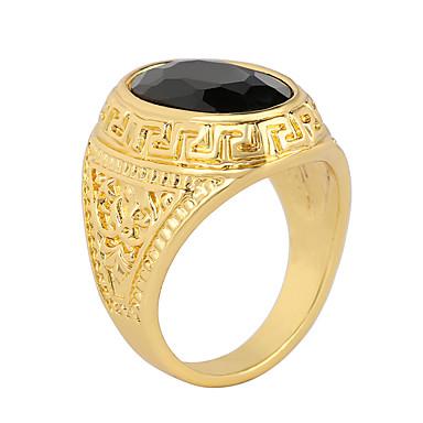 남성용 여성 문자 반지 패션 의상 보석 애것(마노) 합금 보석류 제품 파티 일상 캐쥬얼