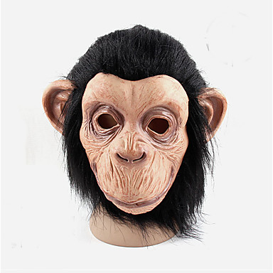 cosplay férfi női latex majom maszkok fél labda gumi teljes arcot Mardi Gras maszk jelmez halloween labda latex maszk
