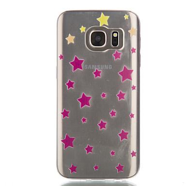 Mert Samsung Galaxy S7 Edge Átlátszó / Minta Case Hátlap Case Mértani formák Puha TPU Samsung S7 edge / S7 / S6 edge / S6 / S5