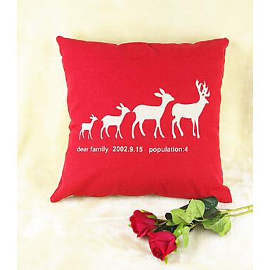 붉은 엘크 야생 동물 인쇄 면화 / 린 넨 베개 커버 홈 장식