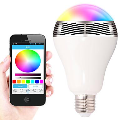 7W E26/E27 Okos LED izzók A90 30 SMD 5050 400-500 lm RGB Bluetooth Tompítható Dekoratív AC 220-240 V 1 db.
