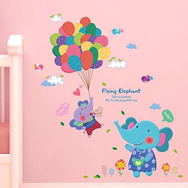 카툰 벽 스티커 플레인 월스티커 데코레이티브 월 스티커,PVC 자료 이동가능 홈 장식 벽 데칼