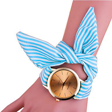 아가씨들 패션 시계 팔찌 시계 캐쥬얼 시계 석영 섬유 밴드 Randig 블랙 블루 핑크 로즈