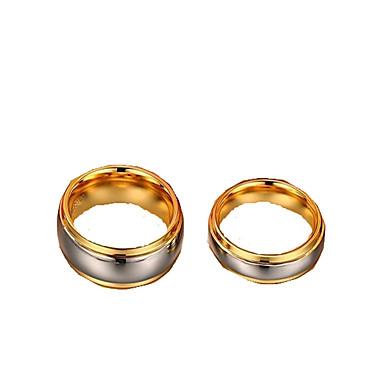 Férfi Női Karikagyűrűk Vallomás gyűrűk Divat Európai Wolfram acél Ékszerek Kompatibilitás Esküvő Eljegyzés Napi Hétköznapi