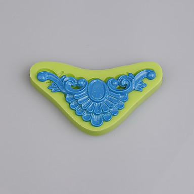 3D 실리콘 금형 빈티지 브로치 퐁당 케이크 장식 도구 쿠키 초콜릿 ramdon 색상