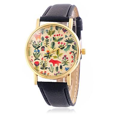 CAGARNY Damskie Kwarcowy Zegarek na nadgarstek / Na codzień Skóra Pasmo Kwiat Liście Vintage Na co dzień Kreskówka Modny Nowoczesne