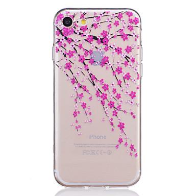 Kompatibilitás iPhone X iPhone 8 iPhone 7 iPhone 7 Plus iPhone 6 tokok Átlátszó Dombornyomott Minta Hátlap Case Virág Puha Hőre lágyuló