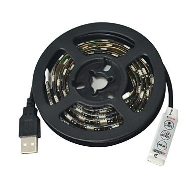 JIAWEN LED-es szalagfények 60 LED RGB Cuttable Vízálló Öntapadós Gépjárműbe DC 5V DC5