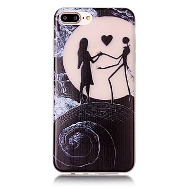 용 아이폰7케이스 / 아이폰7플러스 케이스 / 아이폰6케이스 야광 / 패턴 케이스 뒷면 커버 케이스 풍경 소프트 TPU Apple아이폰 7 플러스 / 아이폰 (7) / iPhone 6s Plus/6 Plus / iPhone 6s/6 /