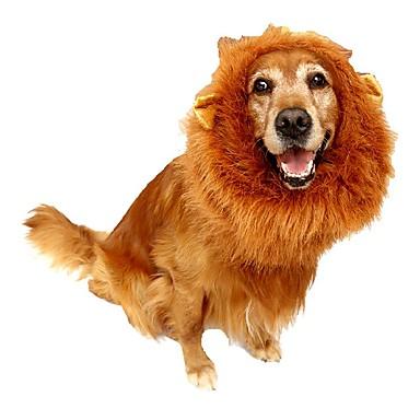 고양이 개 가발 강아지 의류 겨울 여름 모든계절/가을 솔리드 코스프레 패션 화이트 블랙 브라운