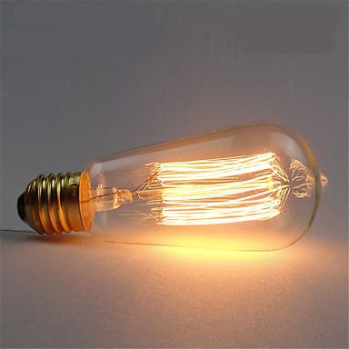 1pc 40W E26 / E27 ST58 Warm White 2300k Retro / Dimmable / Decorative Incandescent Vintage Edison Light Bulb 220-240V