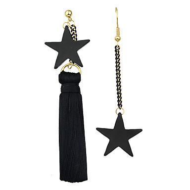 여성용 태슬 드랍 귀걸이 / 링 귀걸이 - 별 술, 보헤미안, 고딕 블랙 제품 파티 / 일상 / 캐쥬얼