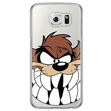 rajzfilm farkas mintás puha ultra-vékony TPU hátlap Samsung Galaxy S7 él s7 s6 él s6 szélén plusz s6 s5 s4