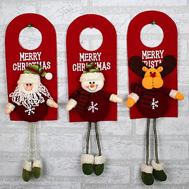tervezés véletlenszerű karácsonyfa dekoráció díszek xmas otthoni ajtó dekoráció santa claus hóember rénszarvas