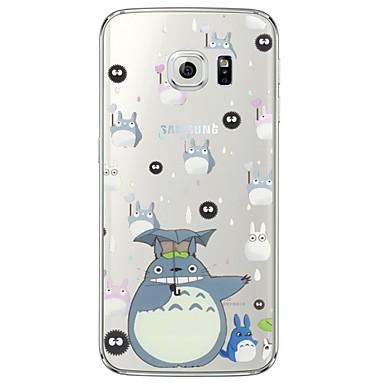 rajzfilm Totoro minta puha ultra-vékony TPU hátlap Samsung galaxys7 él s7 s6 él s6 szélén plusz s6 s5 s4