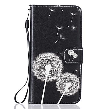 Недорогие Чехлы и кейсы для Galaxy S4 Mini-Кейс для Назначение SSamsung Galaxy S7 edge / S7 / S6 Кошелек / Бумажник для карт / со стендом Чехол одуванчик Твердый Кожа PU
