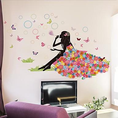 Adesivi decorativi da parete adesivi murali persone for Stanza per ragazze