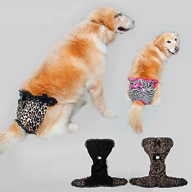 강아지 바지 강아지 의류 캐쥬얼/데일리 레오파드 랜덤 색상
