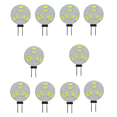 10pcs 1.5W 150-200lm G4 LED à Double Broches T 6 Perles LED SMD 5730 Décorative Blanc Chaud Blanc Froid 12V