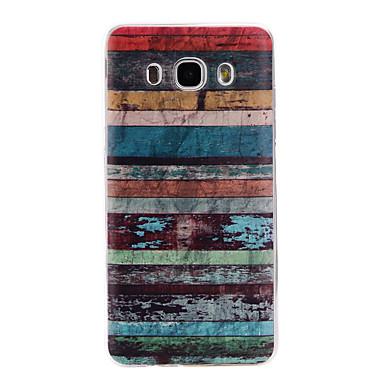 voordelige Galaxy J-serie hoesjes / covers-hoesje Voor Samsung Galaxy J7 (2016) / J5 (2016) / J3 (2016) Patroon Achterkant Lijnen / golven Zacht TPU