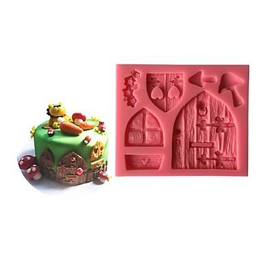 정원 문 실리콘 케이크 금형, 베이킹 도구 DIY 신선한 스타일 1pc