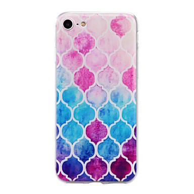 용 아이폰7케이스 / 아이폰7플러스 케이스 / 아이폰6케이스 반투명 / 엠보싱 텍스쳐 / 패턴 케이스 뒷면 커버 케이스 컬러 그라데이션 소프트 TPU Apple아이폰 7 플러스 / 아이폰 (7) / iPhone 6s Plus/6 Plus /