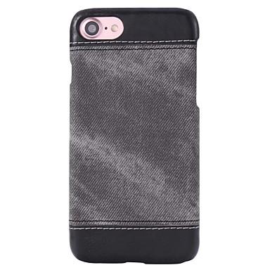 용 아이폰7케이스 / 아이폰7플러스 케이스 / 아이폰6케이스 케이스 뒷면 커버 케이스 단색 하드 인조 가죽 Apple아이폰 7 플러스 / 아이폰 (7) / iPhone 6s Plus/6 Plus / iPhone 6s/6 / iPhone