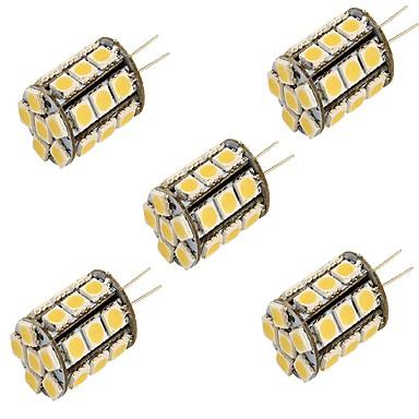 g4 led kétpólusú fények t 27 smd 5050 250lm meleg fehér hideg fehér 3000k / 6000k dekoratív dc 12v