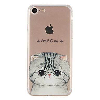Mert iPhone 7 tok / iPhone 6 tok / iPhone 5 tok Minta Case Hátlap Case Cica Puha TPU AppleiPhone 7 Plus / iPhone 7 / iPhone 6s Plus/6