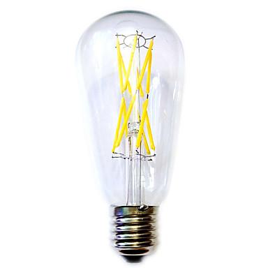 KWB 12W E26/E27 LED Globe Bulbs ST64 12 COB 1100 lm Warm White AC 220-240 V 1 pcs